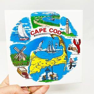Vintage Cape Cod ceramic tile trivet/ wall hanging